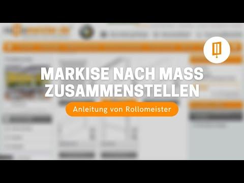 Markise auf Maß online individuell zusammenstellen und kaufen - Anleitung von Rollomeister