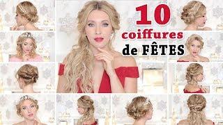 10 COIFFURES de SOIREE chic MARIAGE  Tuto facile pour les cheveux long mi long court