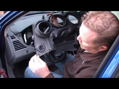 2007 & Later Chrysler Sebring Instrument Cluster Removal Procedure