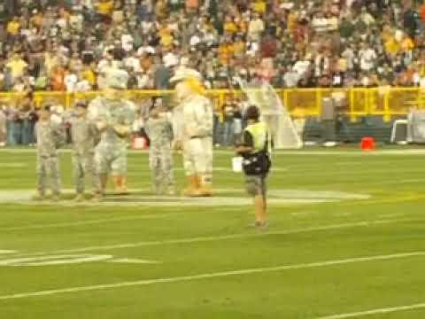 Wisconsin National Guard at Lambeau Field