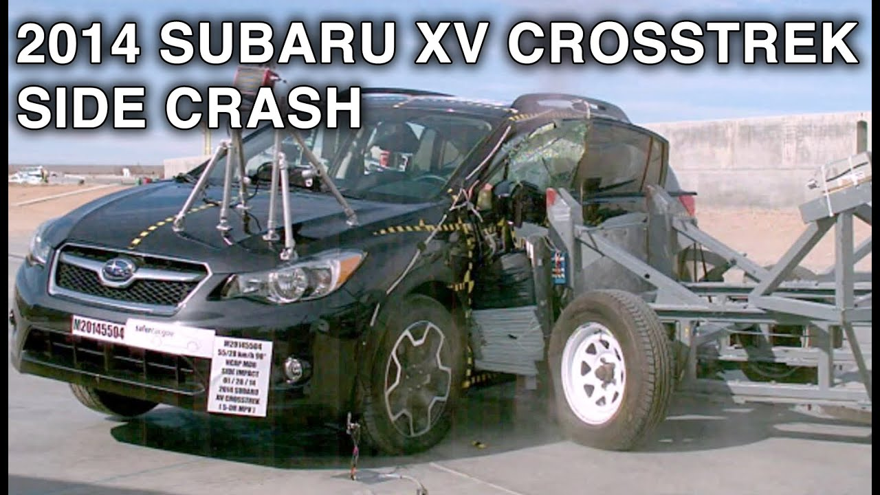 2014 subaru xv crosstrek side crash test crashnet1 youtube. Black Bedroom Furniture Sets. Home Design Ideas