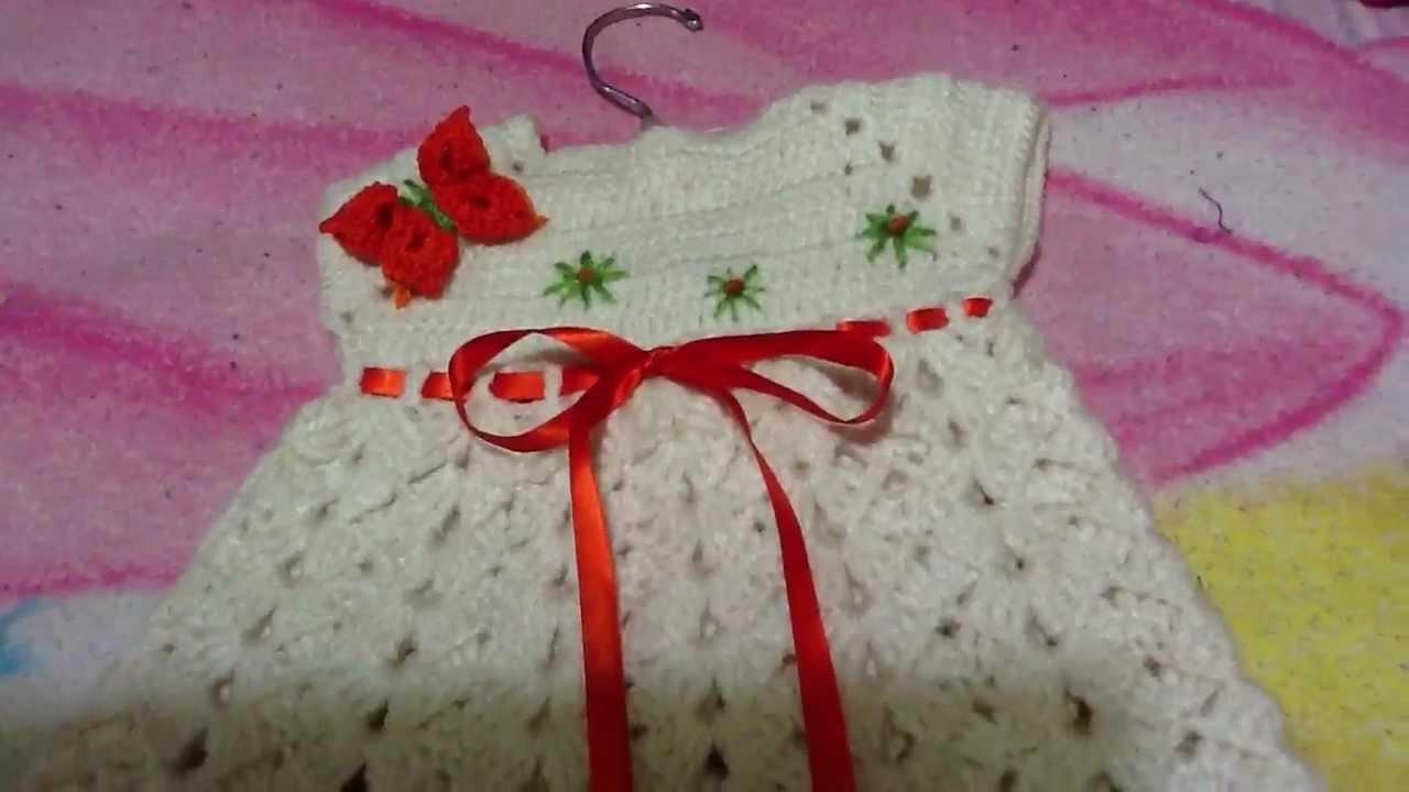 Vestido para bebe en crochet o ganchillo youtube - Traje de duende para nino ...