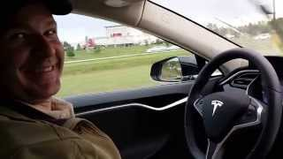 Tesla Autopilot v7.0 Stop and Go Traffic