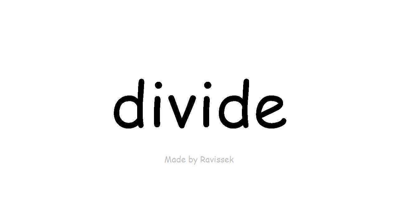 Lær engelsk   dividere