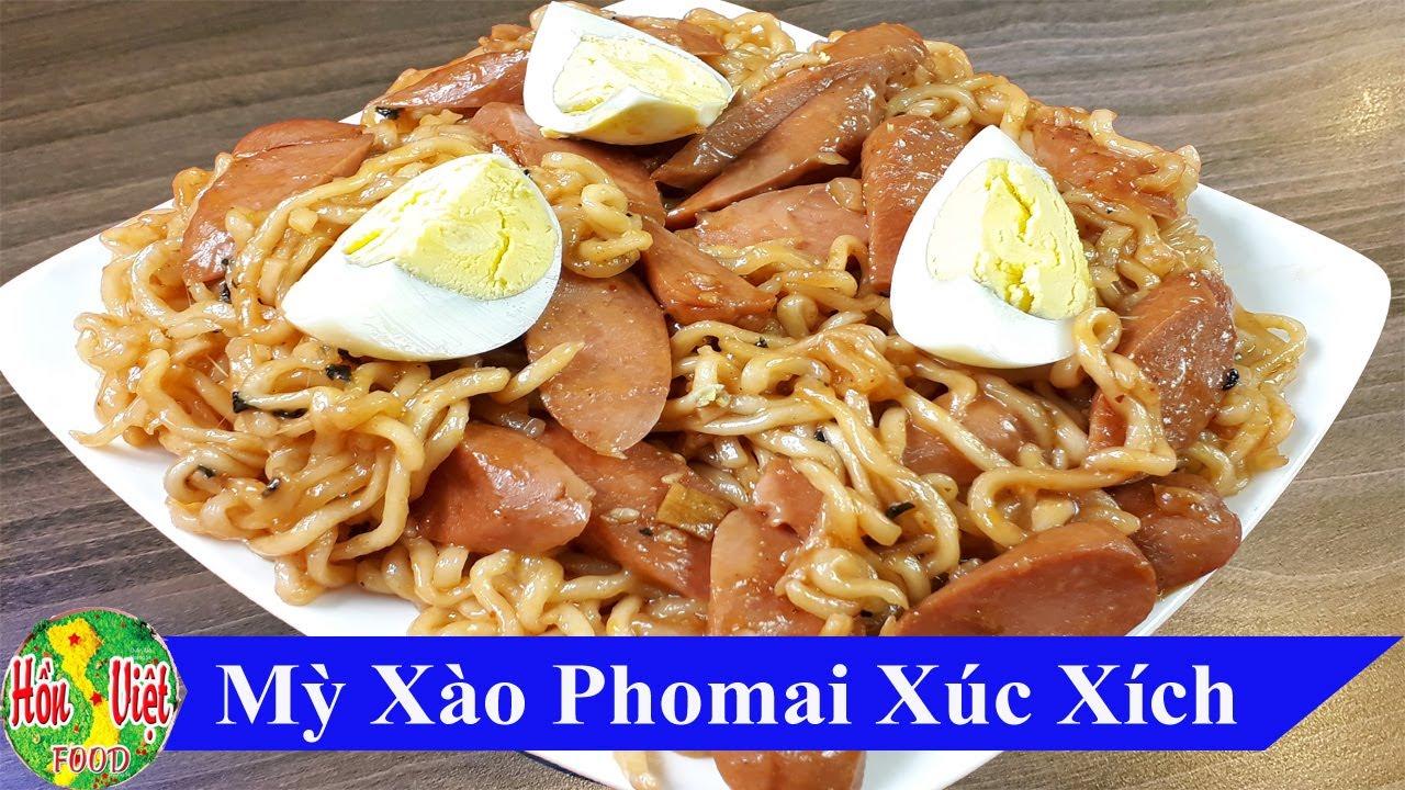✅ Làm Mỳ Hàn Quốc Xào Xúc Xích Phô Mai Đơn Giản Mà Ngon   Hồn Việt Food
