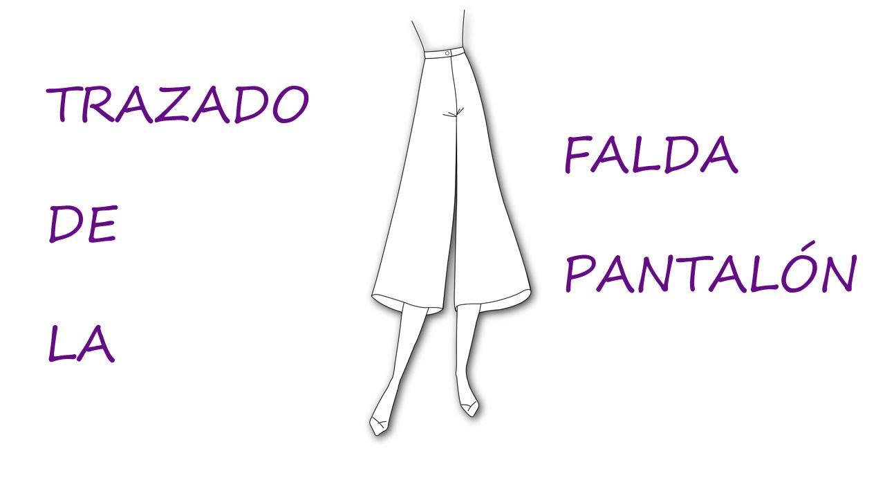Curso para hacer patrones.Trazado de la falda pantalón. - YouTube