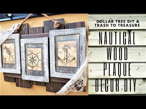 DOLLAR TREE DIY NAUTICAL WOOD SIGN DIY  l  BEACH DÉCOR DIY