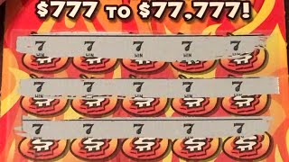 WE HAVE A MANUAL WIN ALL!!! FULL $300 BOOK OF THE FIREBALL 7'S $5 MISSOURI LOTTERY TICKET!!!