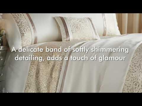Catherine Lansfield -Luxor Jacquard Gold Bedding