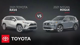 homepage tile video photo for 2021 Toyota RAV4 vs Nissan Rogue | Toyota
