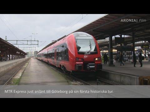 2015-03-21 Första avgången till Göteborg med MTR Express