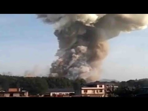 Explosion at fireworks factory in east China
