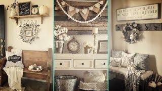 ❤ DIY Rustic Farmhouse style  Fall Entryway decor Ideas ❤| Home decor Ideas | Flamingo mango|