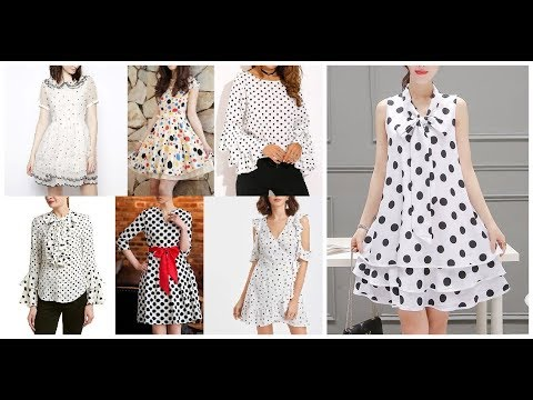 [VIDEO] - Stylish Polka Dot Casual Dress Frocks Designs Outfit Ideas 2019-20 7