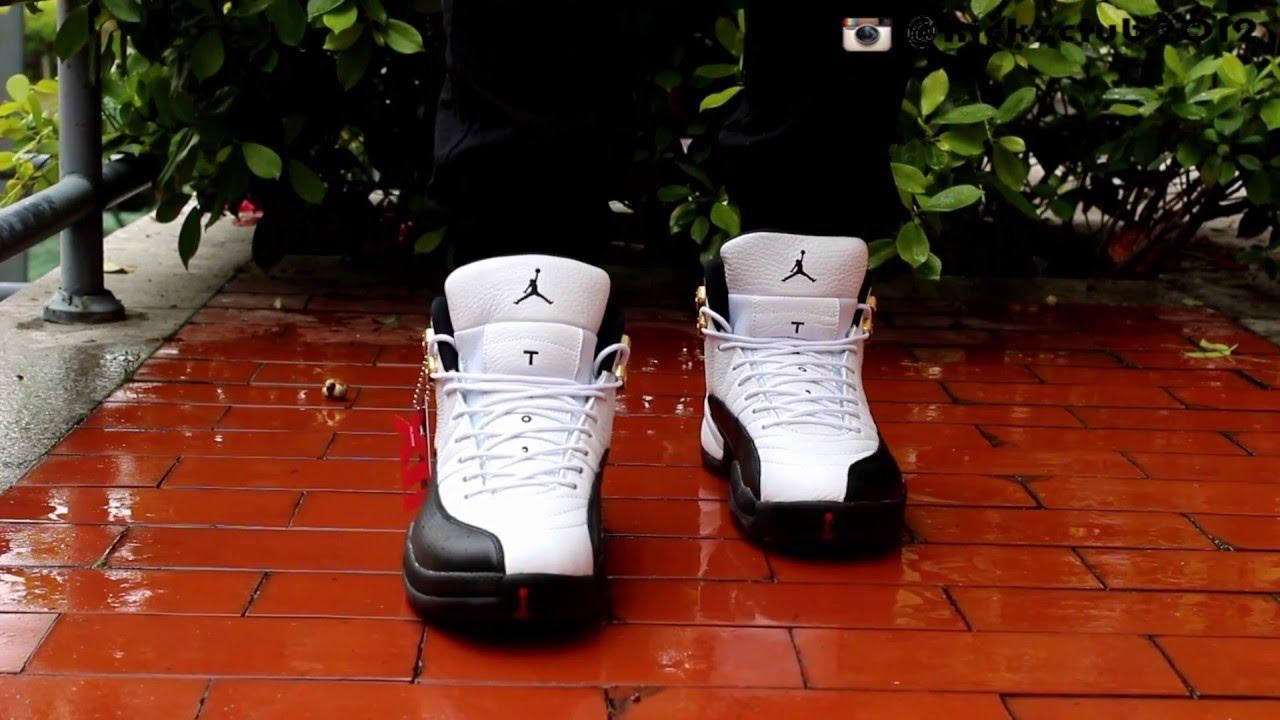 db17e895076dac Air Jordan 12 taxi on foot from kickzclub.cn - YouTube