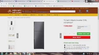 Tủ lạnh Hitachi Inverter 310L H310PGV7