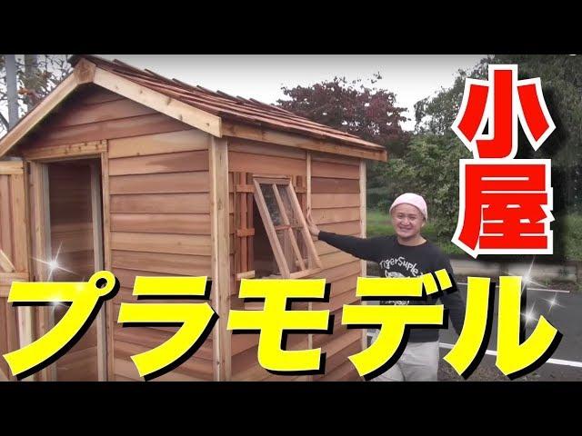【大人のプラモデル】30万円の小屋を全力で作ってみた!【インスタ映える】