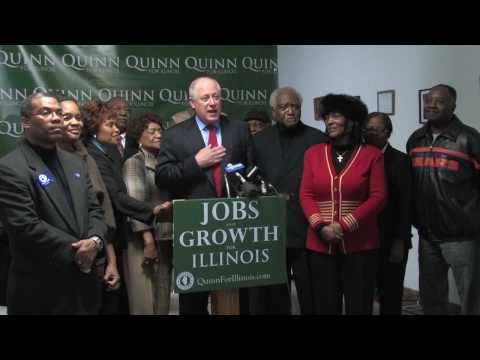 U.S. Rep. Danny Davis, West Side Elected Officials Endorse Gov. Quinn For Illinois