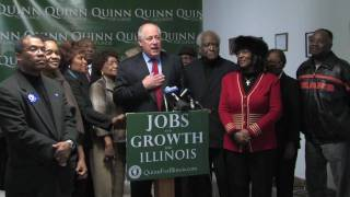 U.S. Rep. Danny Davis, West Side Elected Officials Endorse Gov. Quinn For Illinois