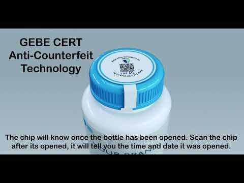 Gebe Cert Anti Counterfeit Chip & Blockchain Technology - English Subtitles