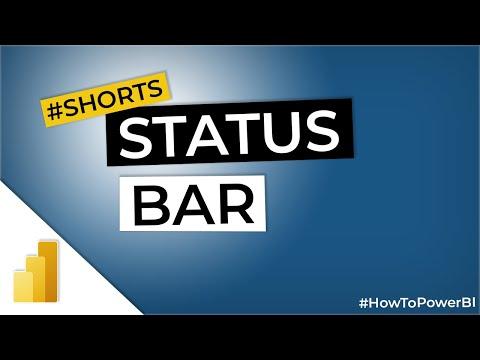 STATUS BAR in Power BI #Shorts