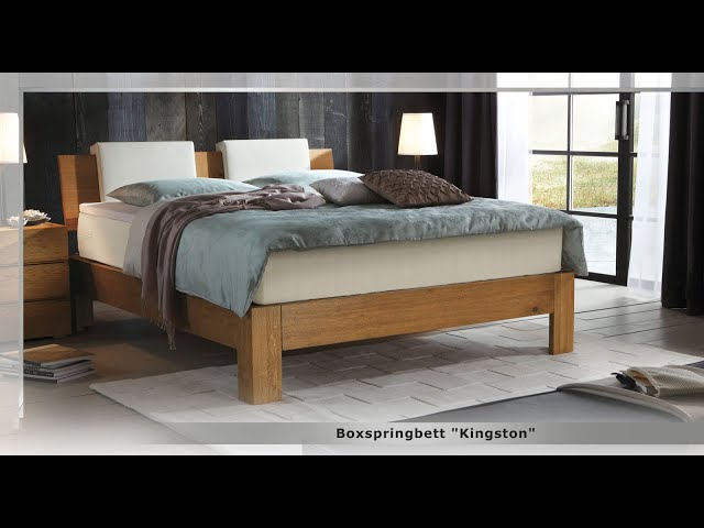 boxspringbett kingston aus massivholz in eiche. Black Bedroom Furniture Sets. Home Design Ideas