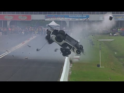 NHRA Pro Mod driver Frigo experiences incredible CRASH in Houston