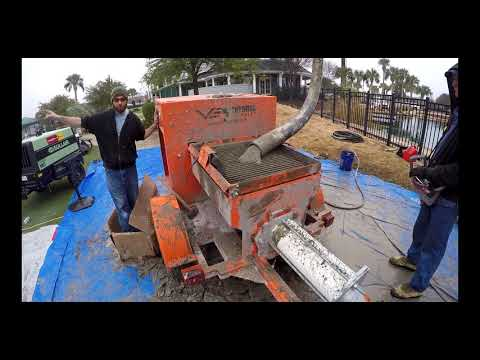 Rockscape Construction Using 3/8 Special Concrete Grout Pump | Concrete Pumping | Ventures Equipment