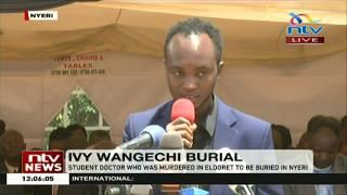 Ivy Wangeci burial: Student-doctor who was murdered in Eldoret, buried in Nyeri