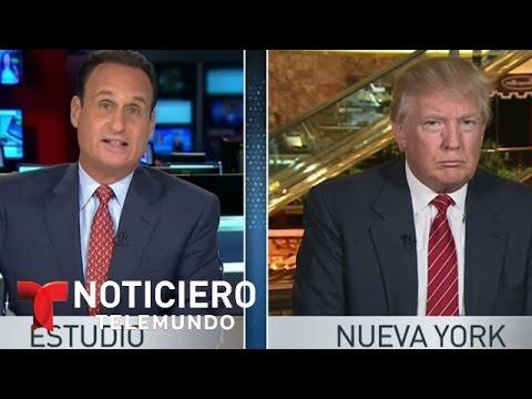 Donald Trump responde a Telemundo tras comentarios sobre mexicanos | Noticiero | Noticias Telemundo