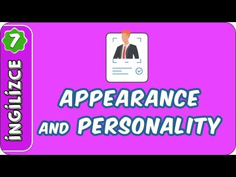 Appearance and Personality   7. Sınıf İngilizce evokul Kampı