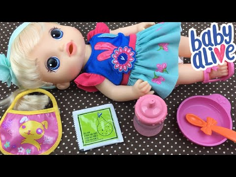 Baby Alive SO MANY STYLES BABY Doll Feeding With Pears Doll Food