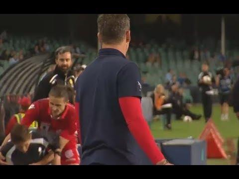 Michael Marrone Tackles Ballboy! FFA Cup Final 2017