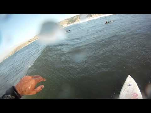 Surfing LindaMar Pacifica Bay Area California