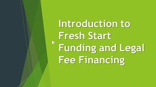 Introduction to Fresh Start Funding