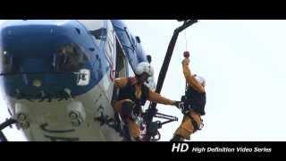 大分県防災航空隊 隊員投入訓練730D