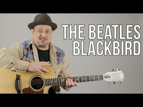 How To Play Blackbird on Acoustic Guitar  The Beatles  Guitar Lesson  Paul McCartney