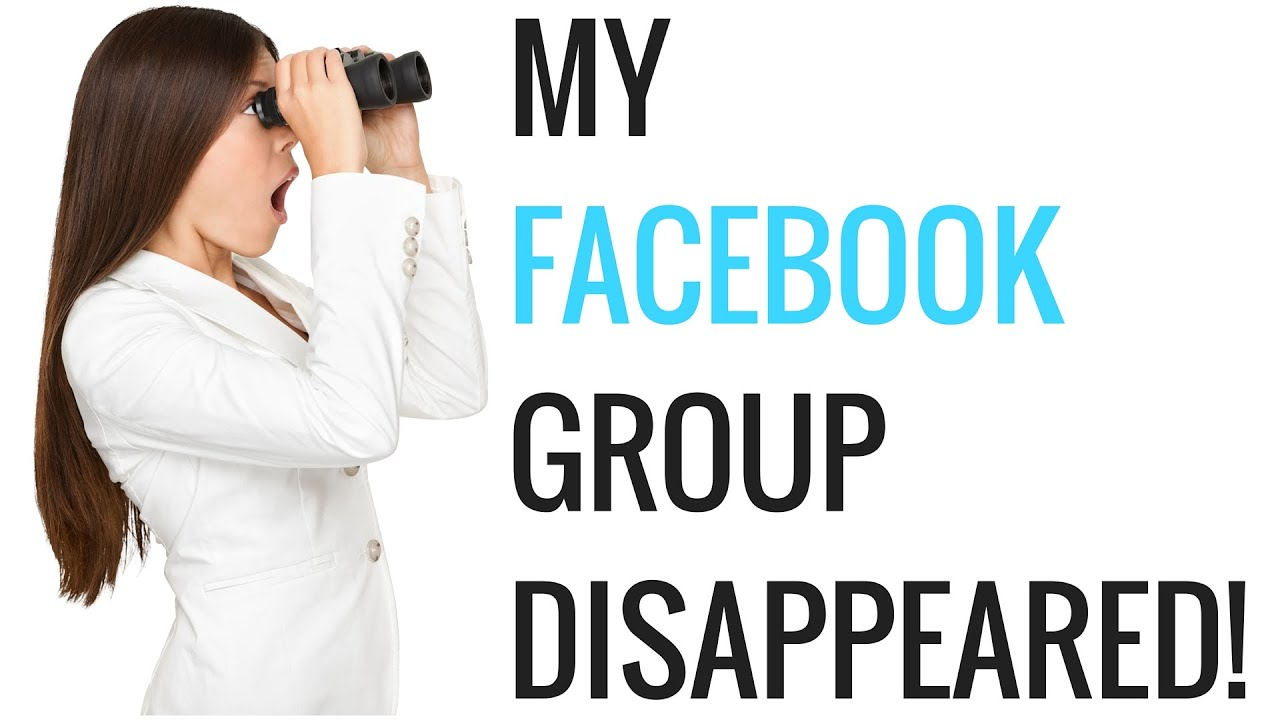 My Facebook Group Disappeared... JOIN THE NEW GROUP. - YouTube