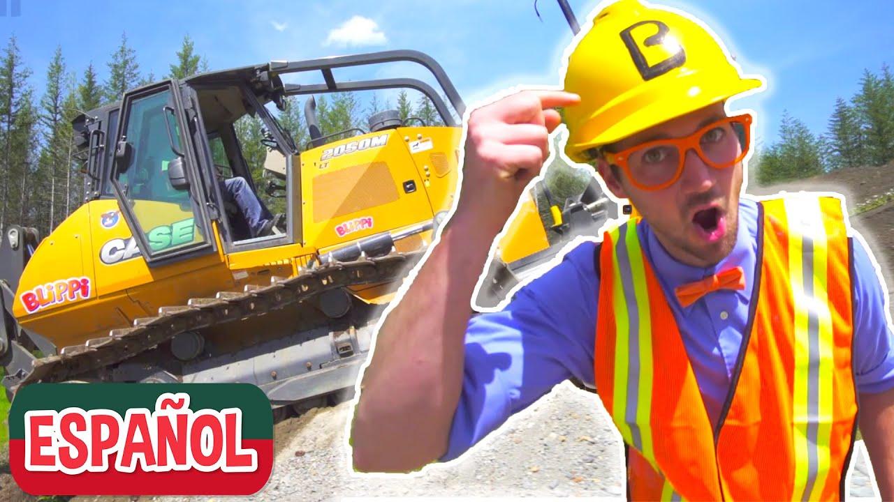 Blippi Español - Bulldozer | Camiones de Construcción para Niños | Canciones Infantiles