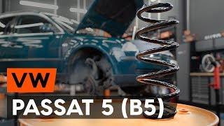 Kako zamenjati sprednji vzmet amortizerja na VW PASSAT 5 (B5) [VODIČ AUTODOC]