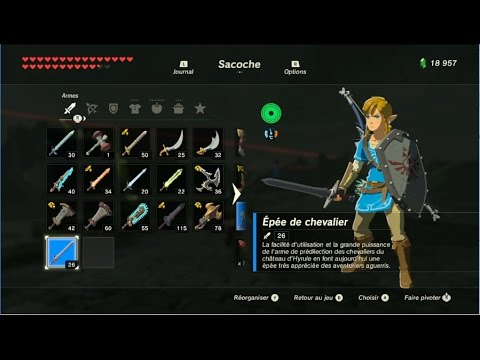 The Legend of Zelda: BotW - Emplacement des armes de
