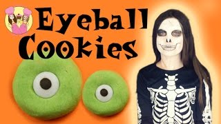 HALLOWEEN MONSTER EYEBALL COOKIES!  Spooky How To Kids Baking By Charliscraftykitchen