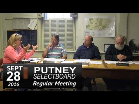 Putney Selectboard Mtg 9/28/16