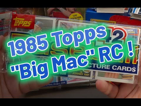 1985 Topps Rack Packs - Mark McGwire RC Hit! 🤣