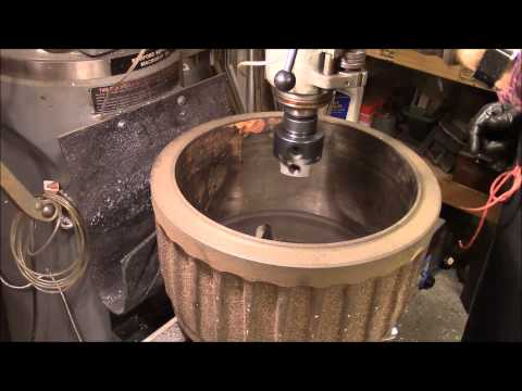 Turning Big Brake Drum on mill.