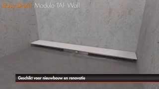 Douchegoot plaatsen – Easy Drain Modulo TAF Wall met secundaire afwatering (Nederlands)