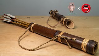 How to make a bamboo quiver | 如何做竹箭筒 | bow and arrows #059