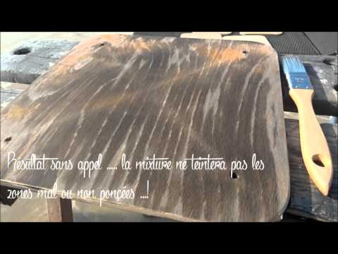 savoir faire une patine sur du bois de palette recycler doovi. Black Bedroom Furniture Sets. Home Design Ideas