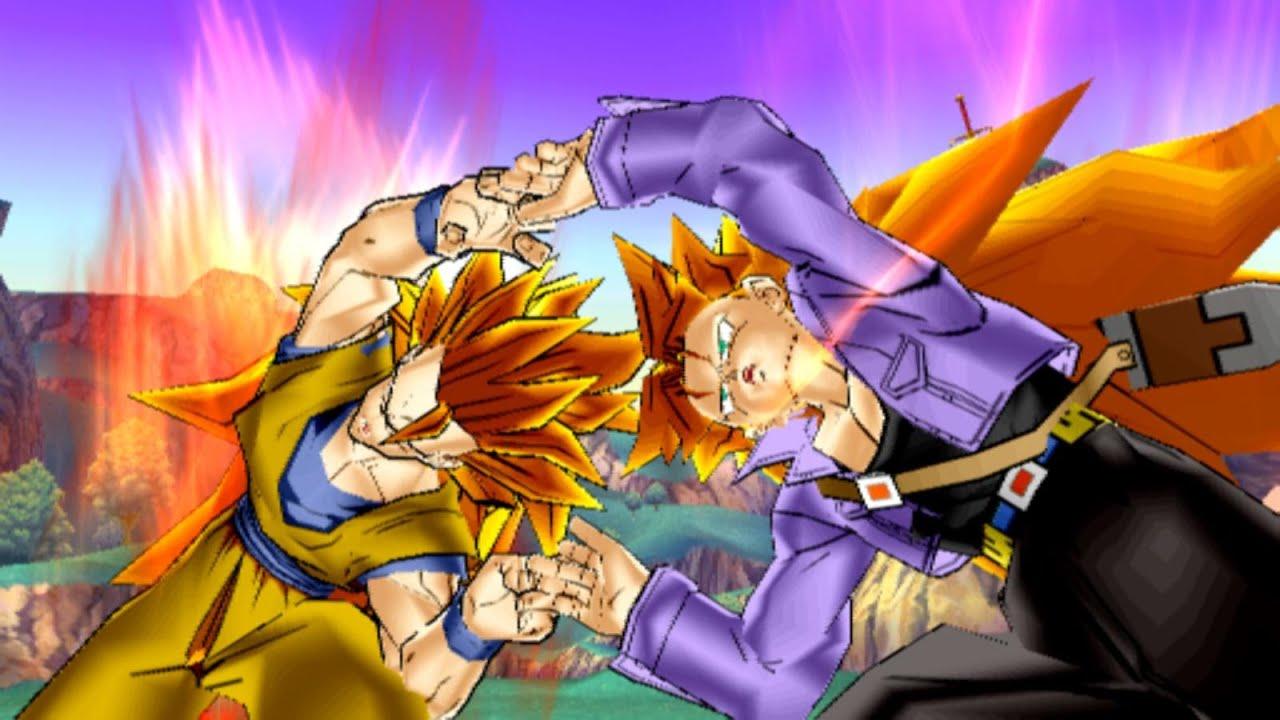 Ssj3 Trunks and Ssj3 Goku Fusion: Burning Kamehameha - YouTube