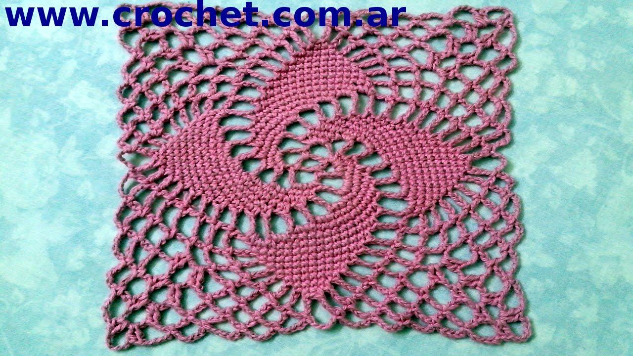 motivo n 8 en tejido crochet tutorial paso a paso   youtube